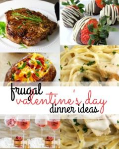 You can have a nice Valentine's Day dinner at home for less. Here are some Valentine's Day dinner ideas that include ingredients that are on sale right now!