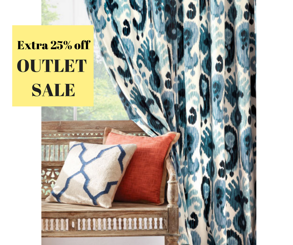 Outlet sale extra 25 off home decorators collection for Home decorations outlet