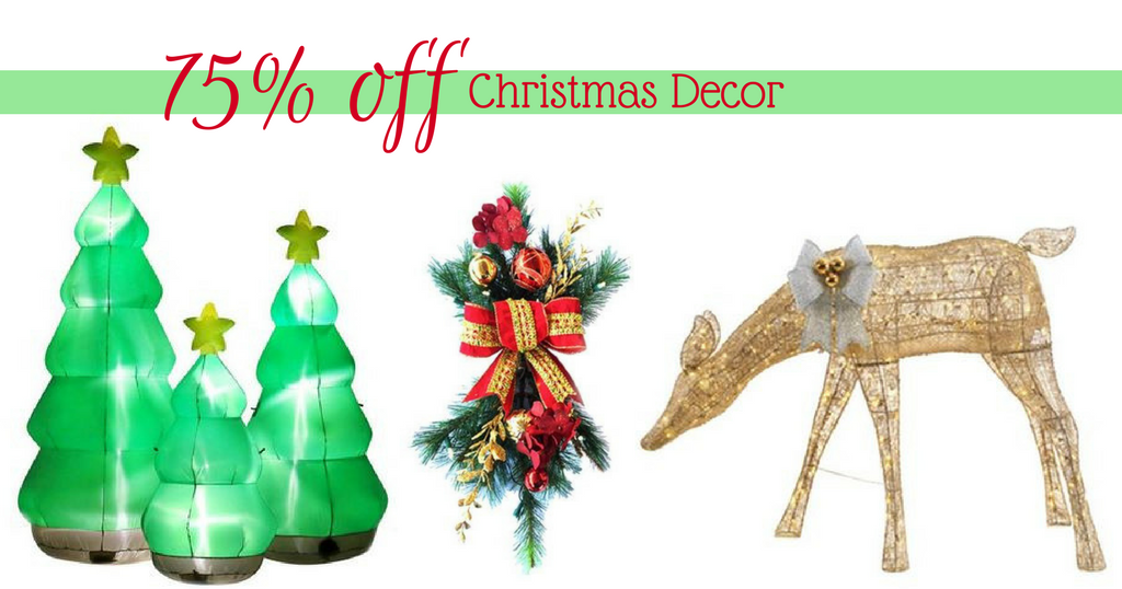 75% Off Christmas Pre-Lit Yard Decor