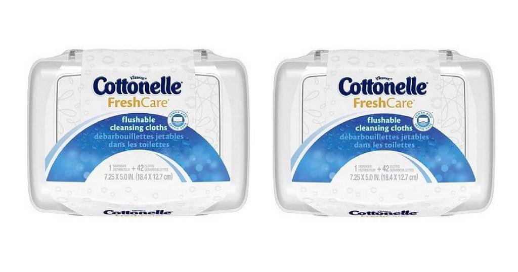 cottonelle flushable wipes
