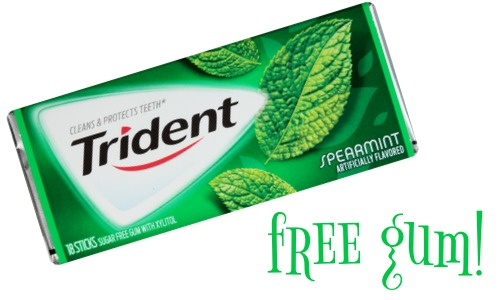 image about Trident Coupons Printable identify Trident Discount codes Cost-free Chewing Gum :: Southern Savers