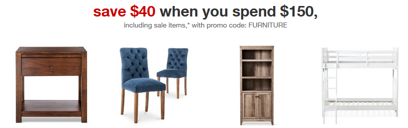 Target Coupon 40 Off 150 Furniture Purchase Southern Savers