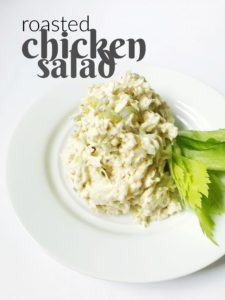 This recipe for roasted chicken salad is really simple and is really tasty. Plus, you can change it up to make it how you like it!