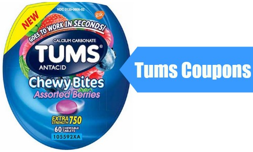 graphic regarding Tums Coupon Printable named Tums Coupon codes $3.39 Chewy Bites :: Southern Savers