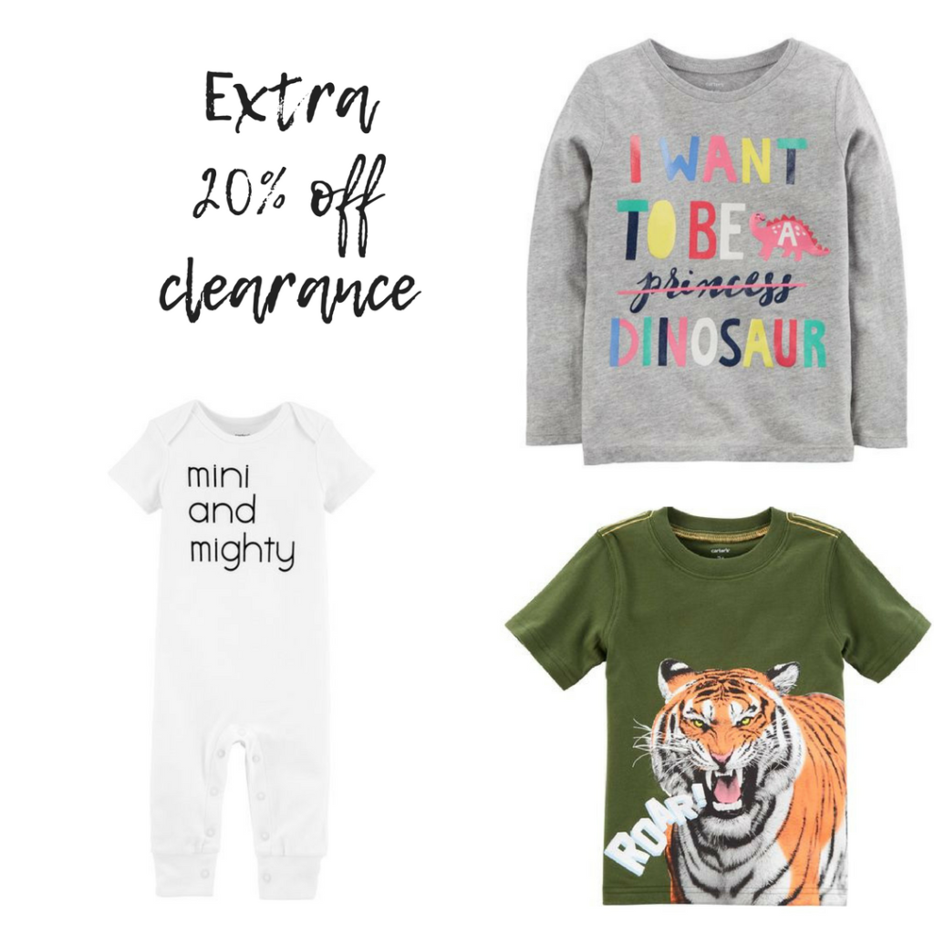 a7dbf64ae24 Looking for a great deal on kids clothes. You can get an extra 20% off all  clearance items from Carters and OshKosh.