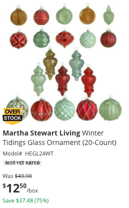 Head on over to HomeDepot.com where they are offering 75% off Christmas Clearance!