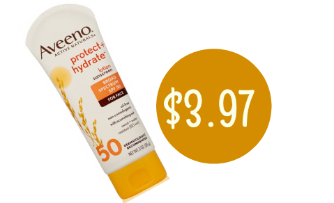 $3 off Aveeno Coupon | Sunscreen for $3.97