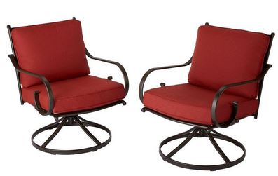 Spectacular Middletown Patio Motion Lounge Chairs with Chili Cushions u reg