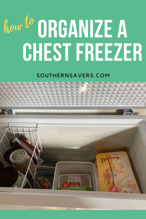 An extra freezer is a great way to save money, so here are four steps to organize a chest freezer so nothing goes to waste!