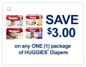 graphic relating to Printable Huggie Coupons named $3 off Huggies Coupon $2.87 for each Pack! :: Southern Savers