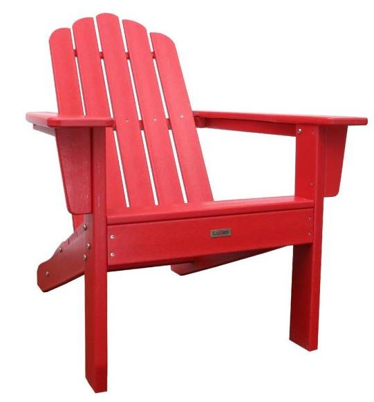 red adorondack chair