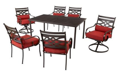 Awesome Middletown Piece Patio Dining Set with Chili Cushions u reg