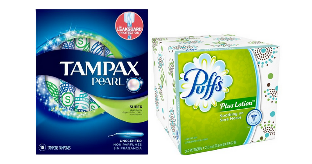 tampax and puffs