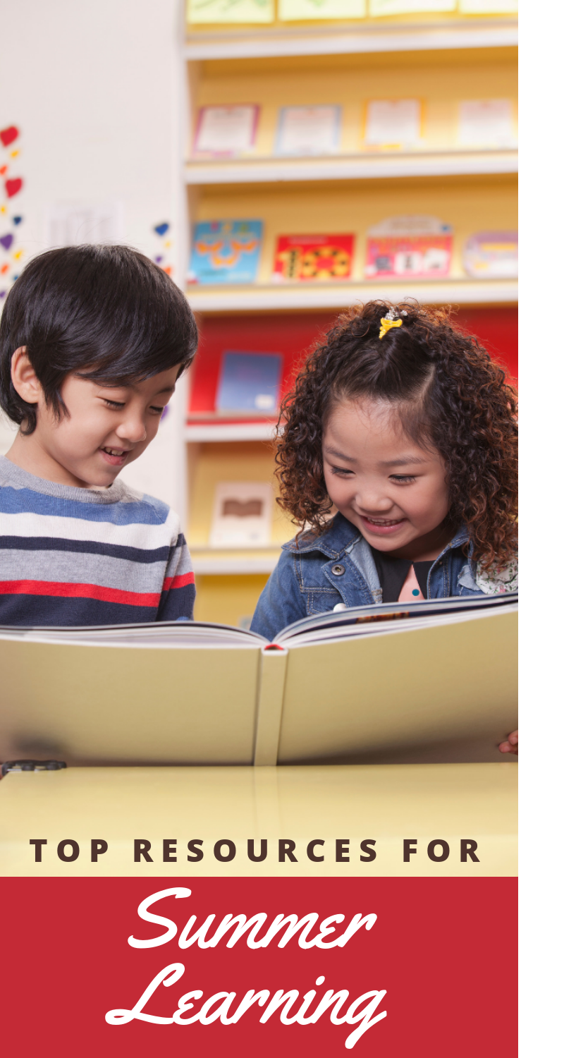 Whether the end of the school year finds your child behind or ahead on skills, you can use these top resources for summer learning to catch them up!