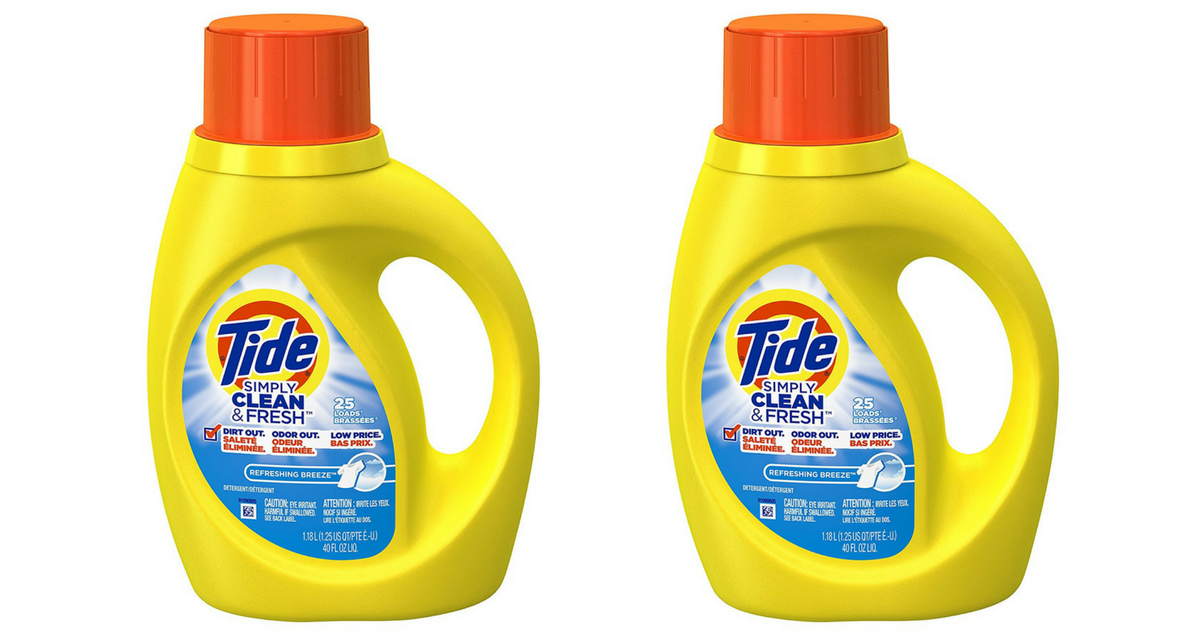 graphic relating to Tide Simply Clean Printable Coupons named Tide Conveniently Fresh New Laundry Detergent, $1.99