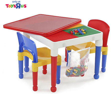 Tot Tutors Lego Activity Table Amp Chairs 29 99 Shipped