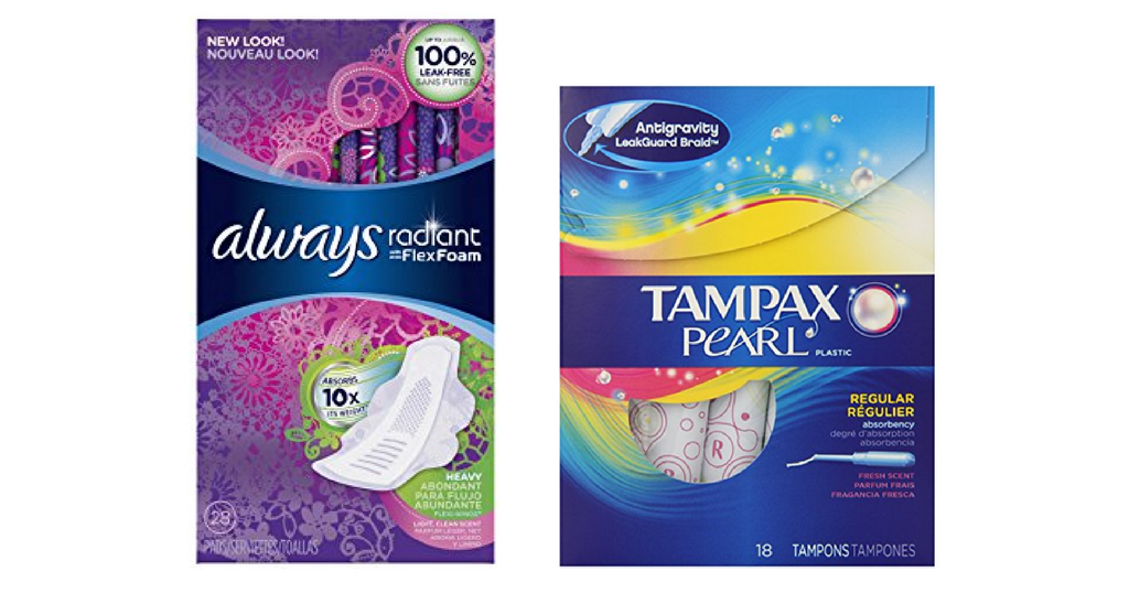 always and tampax