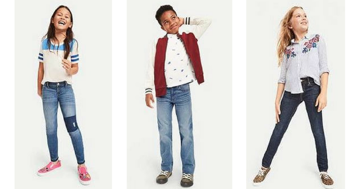 Old Navy Deal Kids Jeans For 10 Amp Adult Jeans For 12