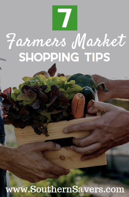 Celebrate National Farmers Market week by shopping local! These 7 farmers market shopping tips will help you keep to your budget.