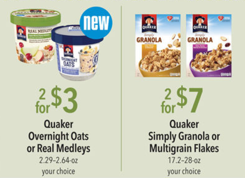 image regarding Quaker Printable Coupons known as Quaker Discount codes Fantastic for Clean Publix Sale :: Southern Savers