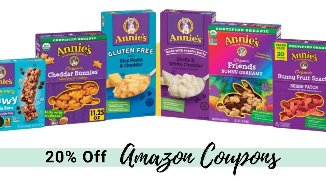 annie's amazon coupons