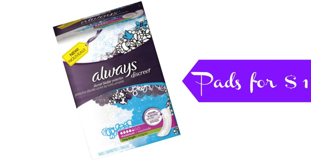 Always pads mobile coupons