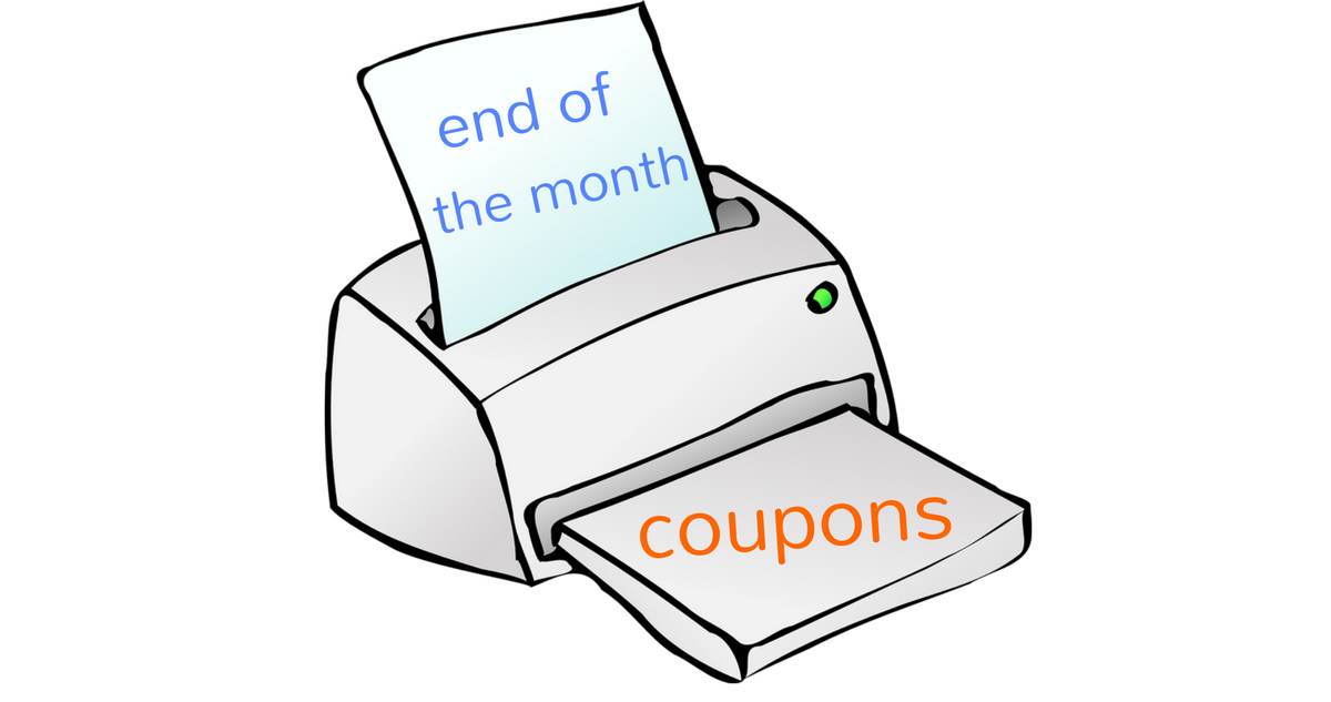 end of the month coupons