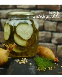 You can stretch your summer produce for a few more months by quick pickling them! Here's a recipe and guide on how to quick pickle.