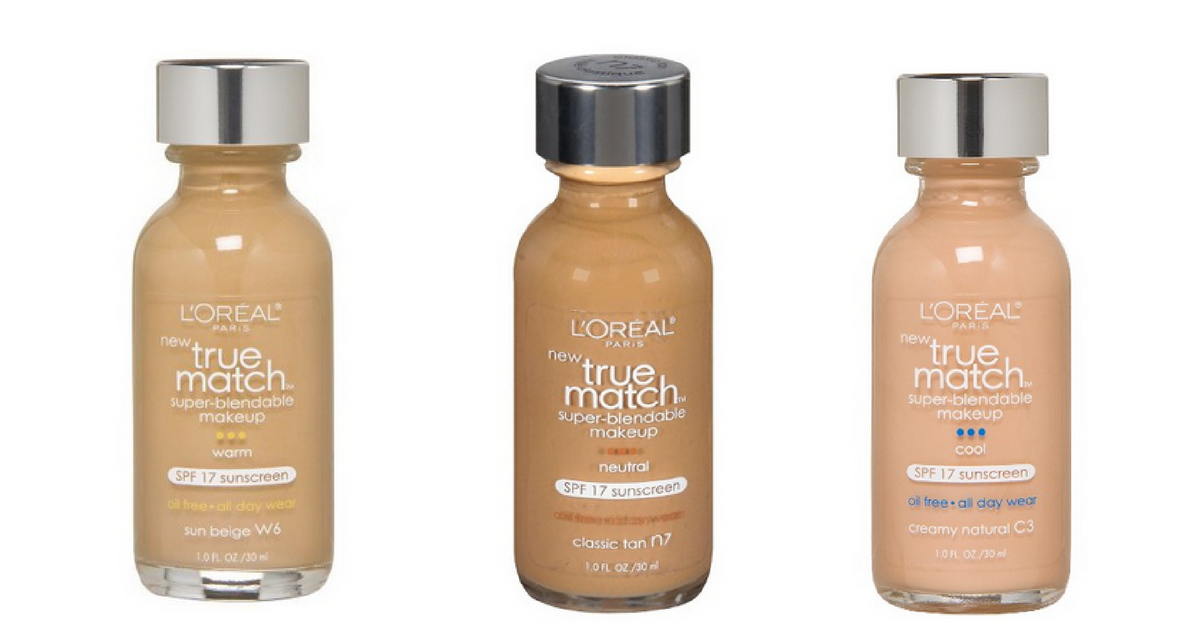 L'Oreal Liquid Foundation, $3.72 Per Bottle