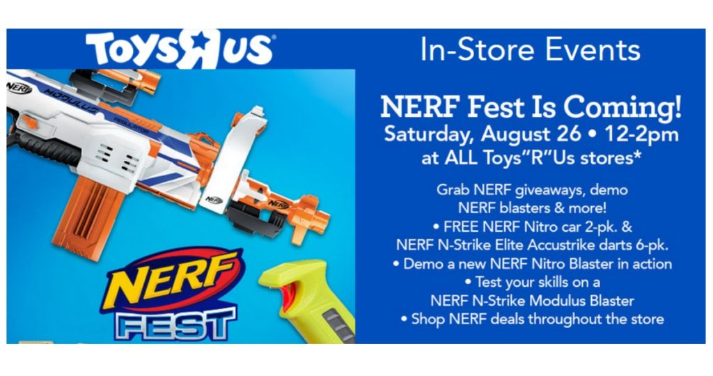 Nerf Fest Event At Toys R Us Southern Savers