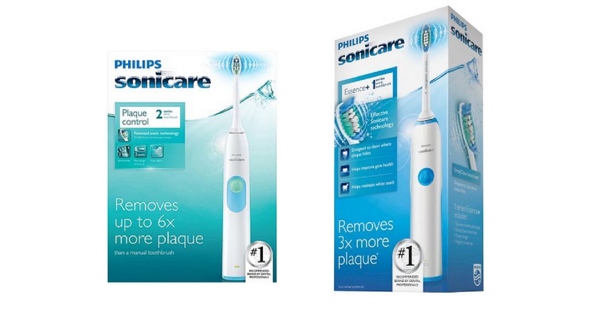 Gently Cleans Teeth with Sonic Technology Removing up to two times more plaque than a manual toothbrush, the Philips Sonicare Essence Electric Toothbrush uses powerful Sonic technology to clean teeth with up to 31, strokes per minute.