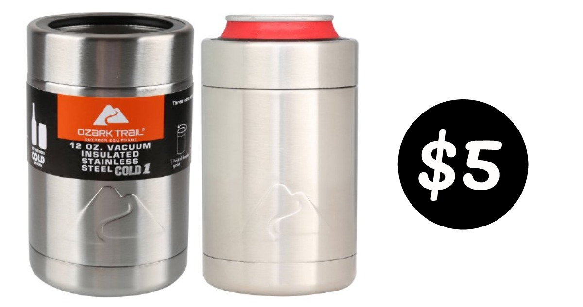 Stainless Steel Can Cooler ~ Ozark trail stainless steel can cooler southern savers