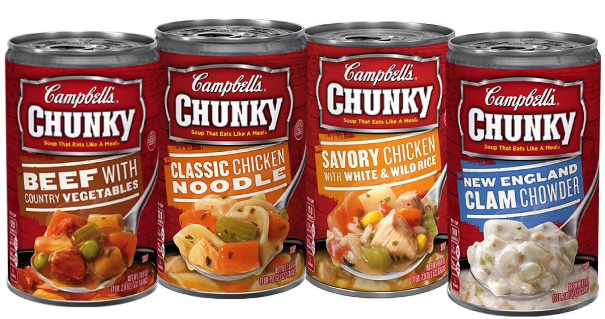 image regarding Campbell Soup Printable Coupon identified as Campbells Coupon Would make Chunky Soup $1 For every Can :: Southern