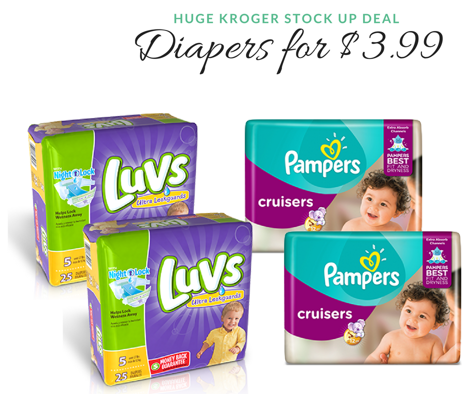 Pampers Amp Luvs Diapers 3 99 A Pack At Kroger