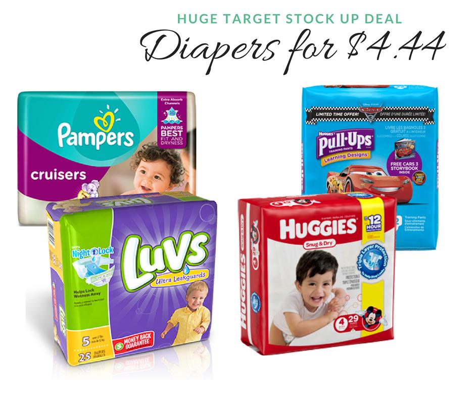 Huge Target Diaper Deal Huggies Pampers Amp Luvs For 4