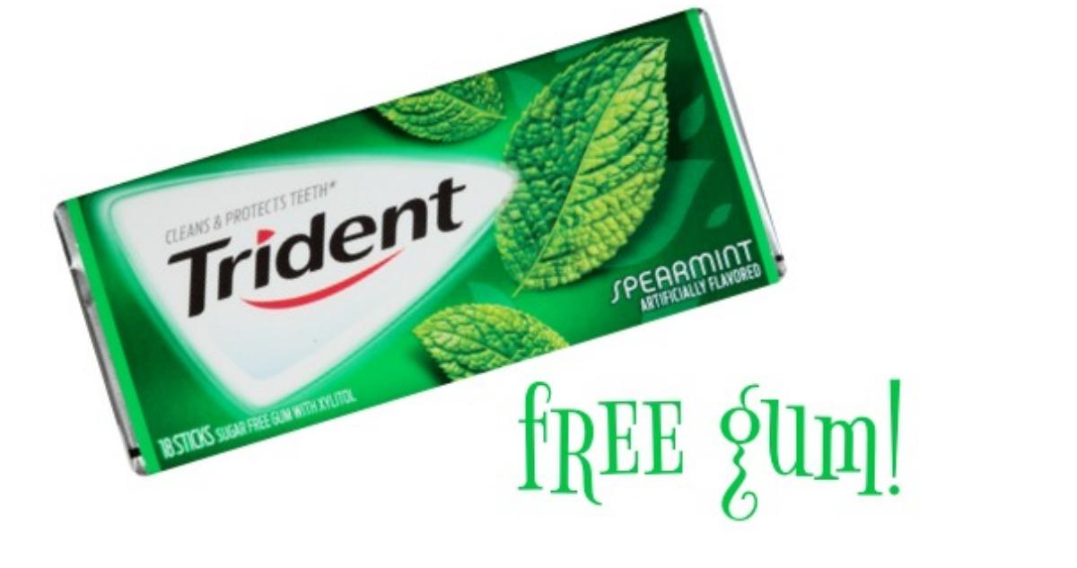 Free Trident Gum At Kroger Southern Savers