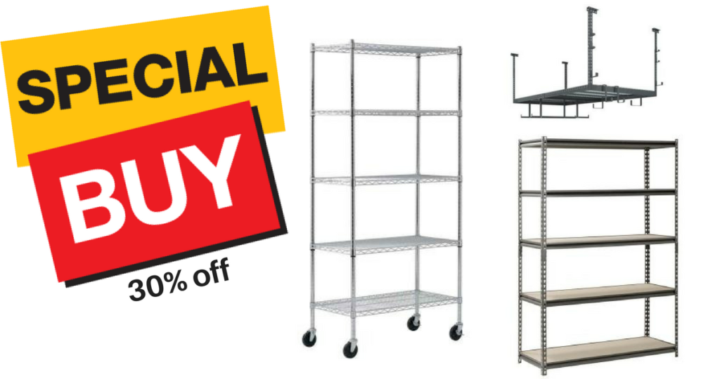 Today Only! 30% off Garage Shelving Units at Home Depot :: Southern on home depot store, home depot garage flooring, home depot garage organizers, home depot warehouse shelving, home depot garage lighting, home depot tool organizer, home depot garage signs, home depot garage ceiling lights, home depot heavy duty shelf, home depot garage sinks, home depot shelving system, home depot garage workbenches, home depot garage carpet, home depot product search, home depot garage wood, diy garage shelves, home depot garage paint, home depot garage insulation, home depot shelving for garage, home depot garage accessories,