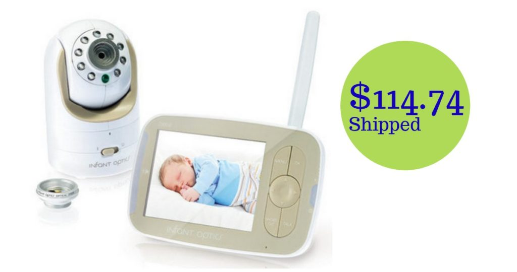 infant optics video baby monitor shipped southern savers. Black Bedroom Furniture Sets. Home Design Ideas