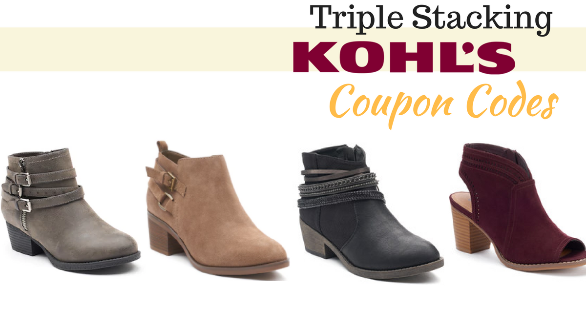 kohls ankle boots deal