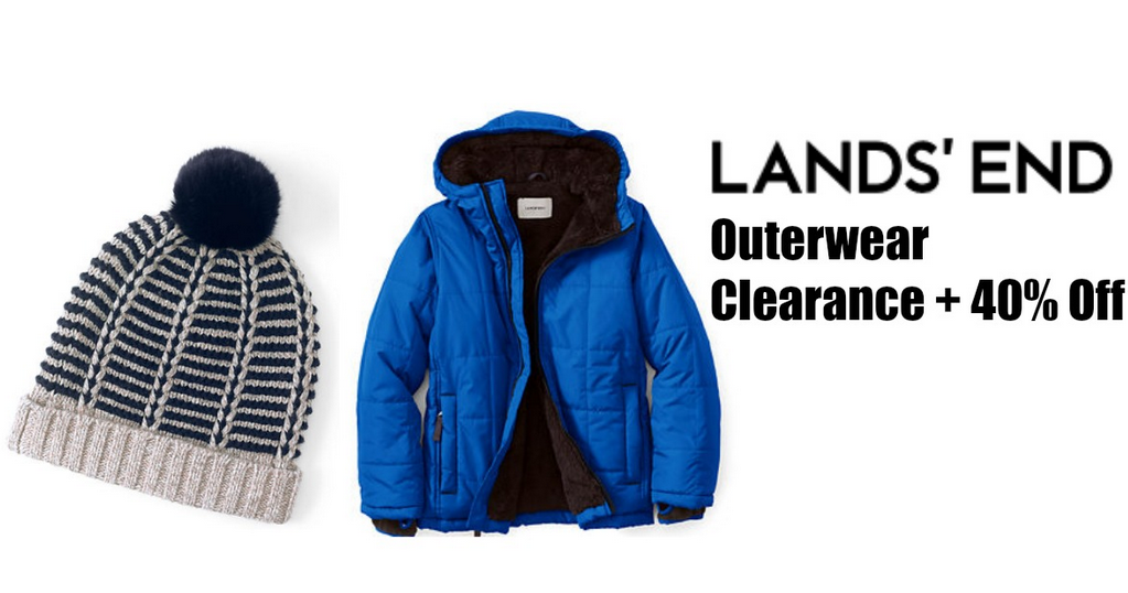 Lands End Code 40 Off Clearance Outerwear Southern Savers