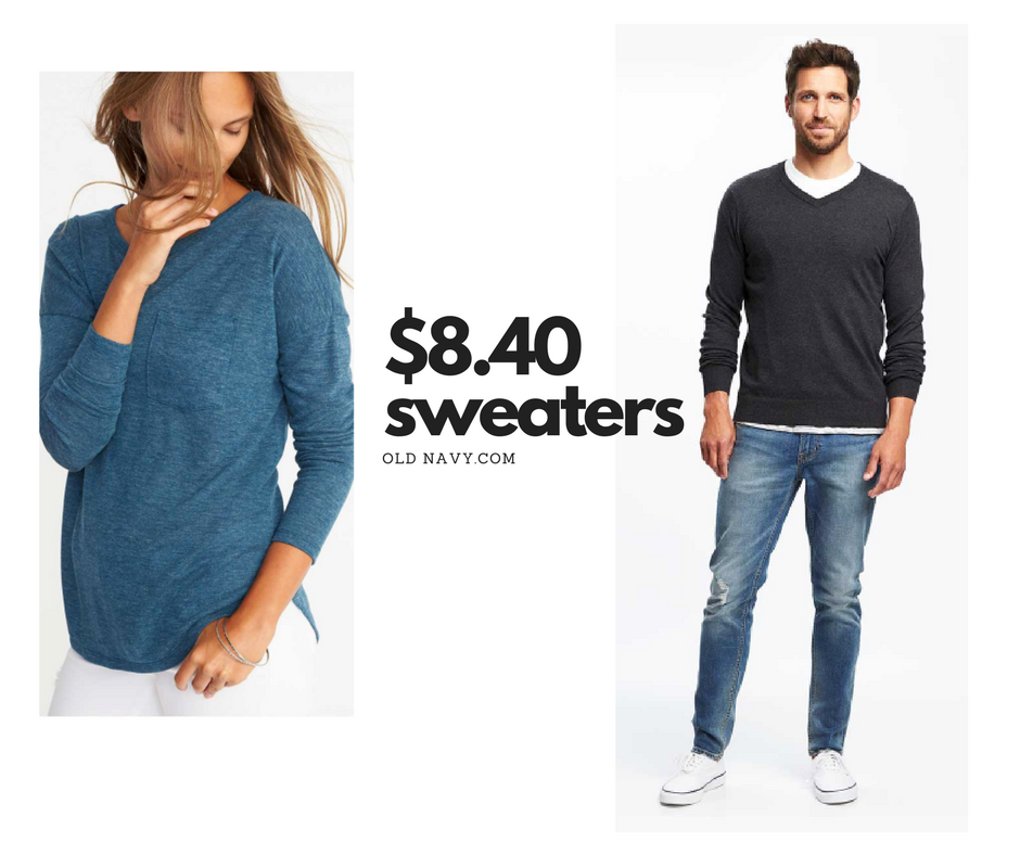 Old Navy Men's & Women's Sweaters For $8.40 (reg. $30