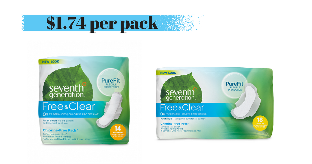 image about Seventh Generation Printable Coupons named 7th Manufacturing Pads, $1.74 each and every :: Southern Savers
