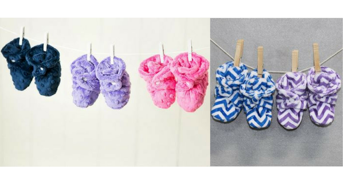23d9f58810ca9 Minky Baby Booties for  14.99 (reg.  30)    Southern Savers