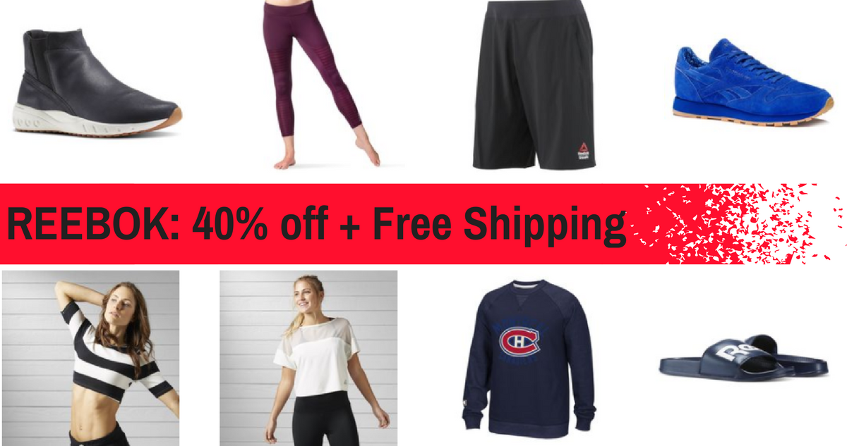 4e5d3482db4 Reebok Outlet  Additional 40% off + Free Shipping    Southern Savers