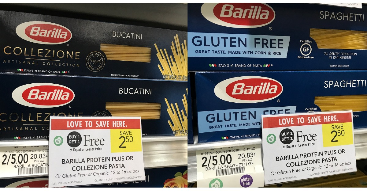 Barilla noodles coupons