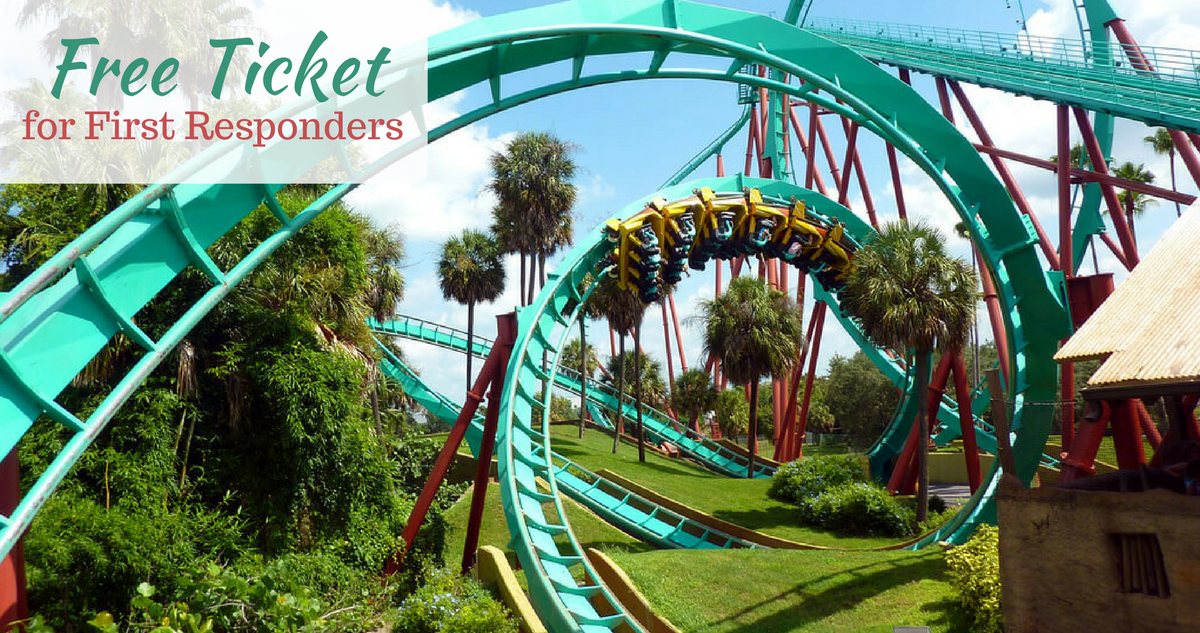 Free busch gardens ticket more for first responders southern savers Busch gardens promo code 2017