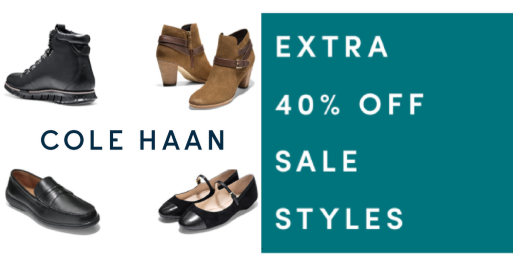 Cole Haan – 2 Day Only Sale, Extra 40% Off Sale Items