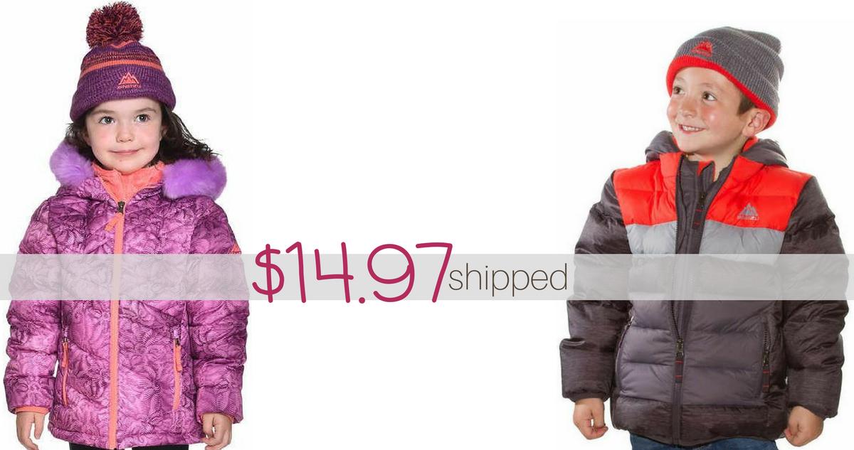 Costco Deal Kids Winter Jacket Hat 14 97 Shipped
