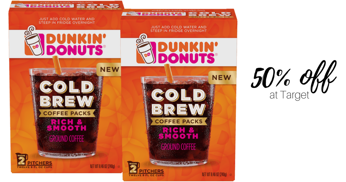 graphic about Dunkin Donuts Coupons Printable known as Dunkin Donuts Chilly Brew, Above 50% Off :: Southern Savers