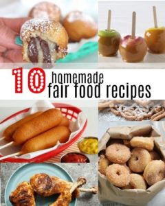 If you can't make it to your fair this year, you can try some recipes yourself at home! Here is a list of some fair food recipes that are fun and festive.